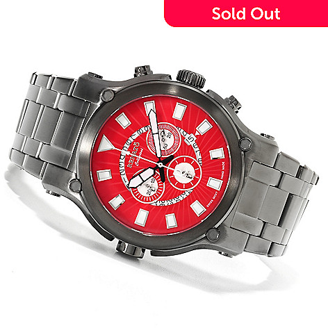 623-006 - Renato Men's Calibre Robusta Swiss Quartz Chronograph Stainless Steel Bracelet Watch