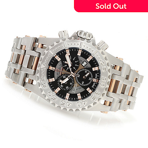 623-015 - Imperious Men's Chaos Swiss Made Quartz Chronograph Stainless Steel Bracelet Watch