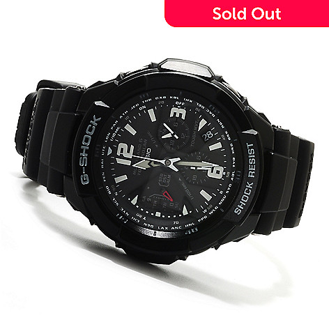 623-029 - Casio 47mm G-Shock Aviation Solar Ana-Digi Quartz Chronograph Rubber Strap Watch