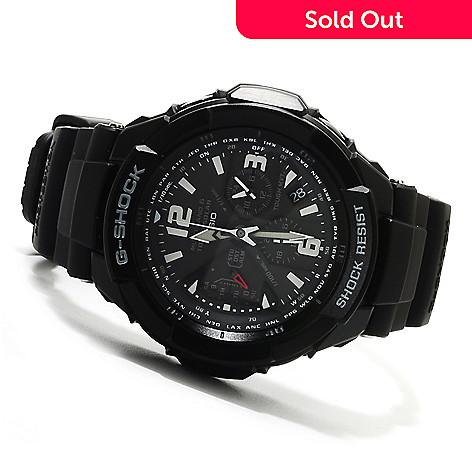 623-029 - Casio 47mm G-Shock Aviation Solar Ana-Digi Quartz Chronograph Rubber Strap Watch