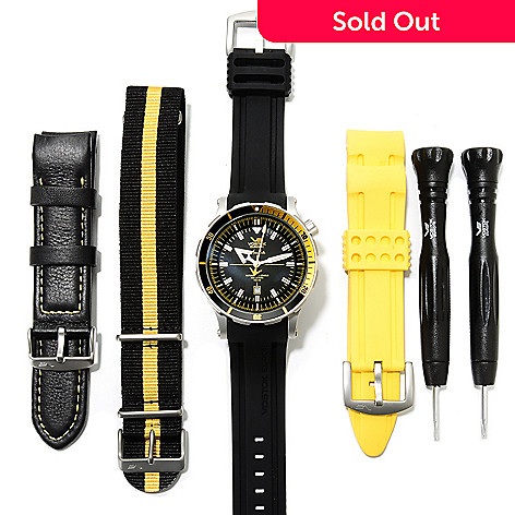 623-031 - Vostok-Europe Men's Anchar Limited Edition Tritium Tubes Automatic Rubber Strap Watch