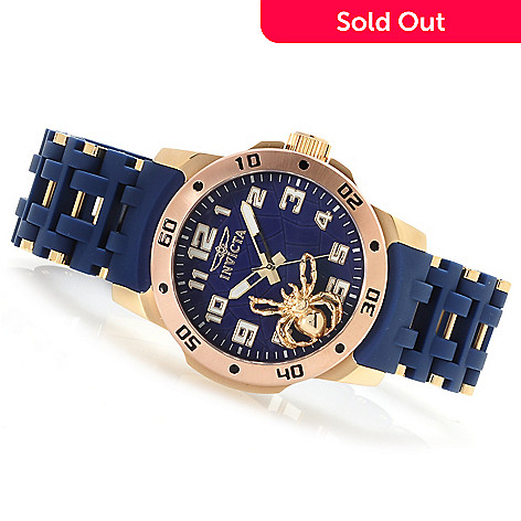623-057 - Invicta Men's Sea Spider Quartz Stainless Steel Polyurethane Bracelet Watch