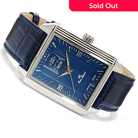 623-130 - Jean Marcel Men's Quadrum II Limited Edition Swiss Made Automatic Leather Strap Watch