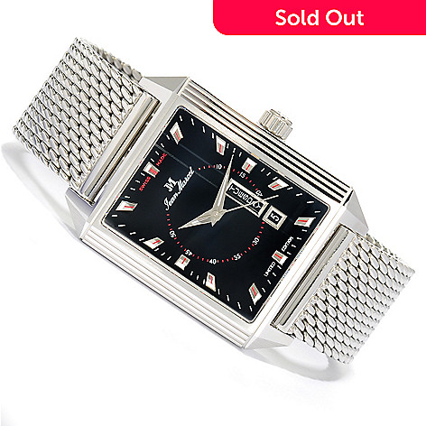 623-136 - Jean Marcel Men's Quadrum II Limited Edition Swiss Made Automatic Stainless Steel Bracelet Watch