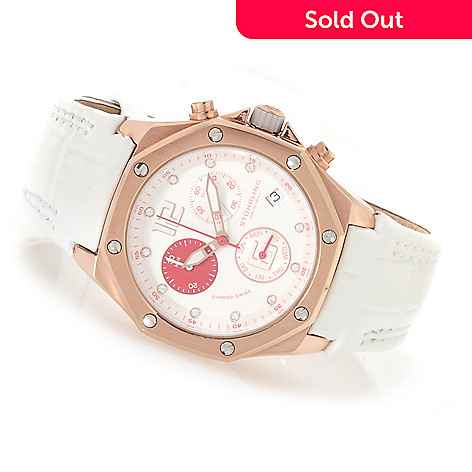 623-142 - Stührling Original Women's Quartz Chronograph Watch Made w/ Swarovski® Elements