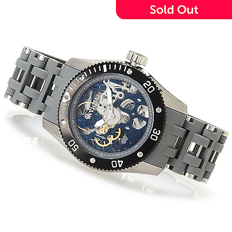 623-160 - Invicta Men's Sea Spider Mechanical Stainless Steel Polyurethane Bracelet Watch