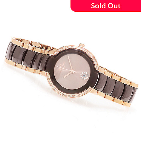 623-206 -  Oniss Women's Fantasia Quartz Diamond Accented Stainless Steel Bracelet Watch