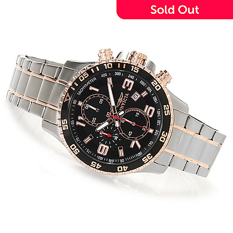 623-217 - Invicta 45mm Specialty Quartz Chronograph Bracelet Watch w/Eight-Slot Dive Case