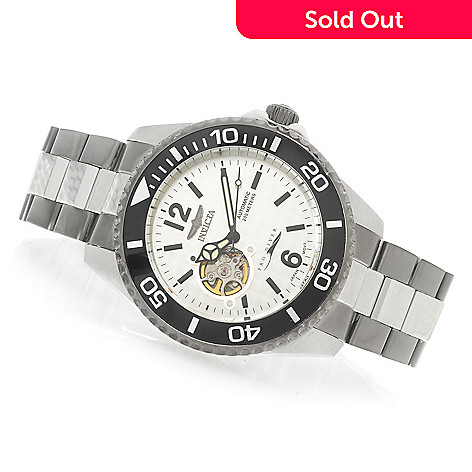 623-254 - Invicta 47mm Pro Diver Automatic Open Heart Bracelet Watch