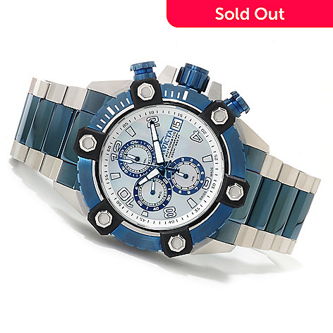 623-270 - Invicta Reserve 52mm Octane Swiss Automatic A07 Chronograph Stainless Steel Bracelet Watch