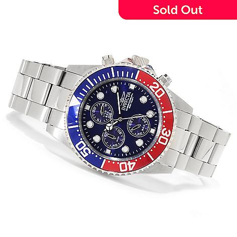623-272 - Invicta Men's Pro Diver Quartz Chronograph Bracelet Watch w/Three-Slot Dive Case
