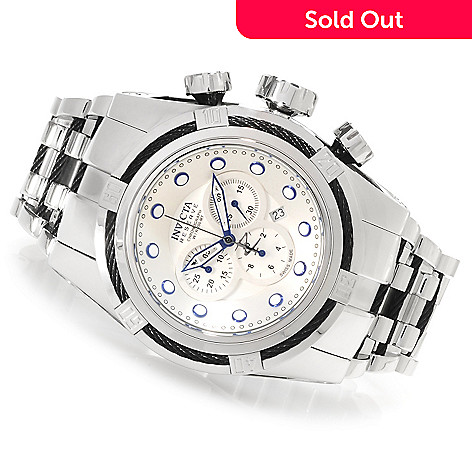 623-296 - Invicta Reserve 52mm Bolt Zeus Swiss Made Quartz Chronograph Bracelet Watch