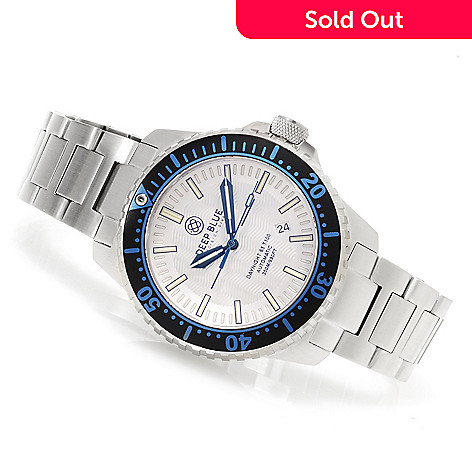 623-302 - Deep Blue 46mm Daynight 65 T-100 Automatic Stainless Steel Bracelet Watch