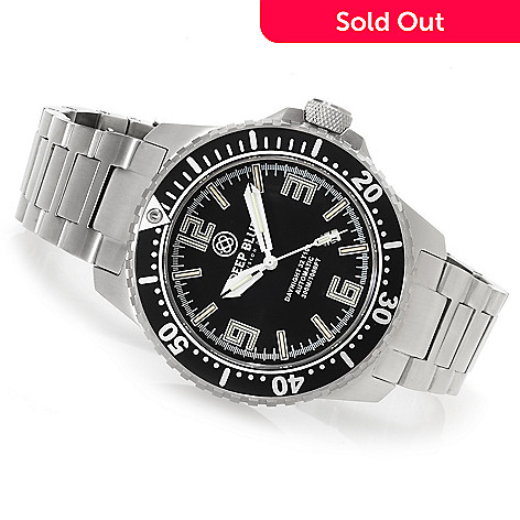 623-303 - Deep Blue 46mm Daynight 32 T-100 Automatic Stainless Steel Bracelet Watch