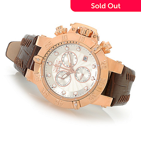 623-310 - Invicta Women's Subaqua Noma III Swiss Made Quartz Chronograph Leather Strap Watch