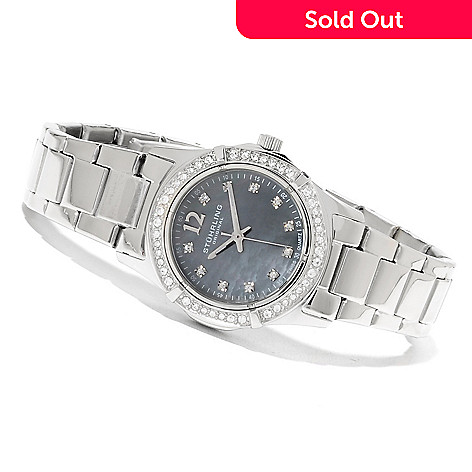 623-344 - Stührling Original Women's Glimmer Quartz Bracelet Watch Made w/ Swarovski® Elements