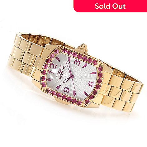 623-357 - Invicta Lady Lupah Exotic Gemstone Limited Edition Stainless Steel Bracelet Watch
