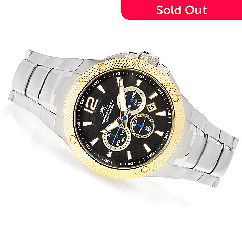 623-374 - Porsamo Bleu 45mm Pierre Quartz Chronograph Stainless Steel Bracelet Watch