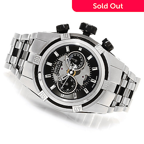 623-385 - Invicta Reserve 52mm Bolt Zeus Swiss Made Dubois Depraz Automatic Bracelet Watch