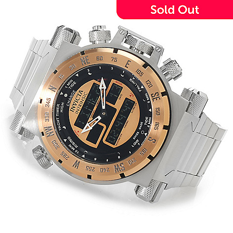 623-386 - Invicta 51mm Coalition Forces Swiss Ana/Digi Stainless Steel Bracelet Watch