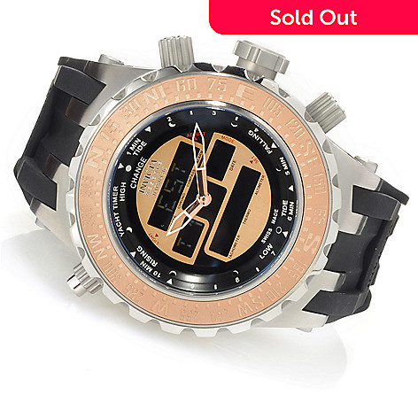 623-477 - Invicta Reserve 52mm Specialty Subaqua Intrinsic Swiss Ana/Digi Silicone Strap Watch