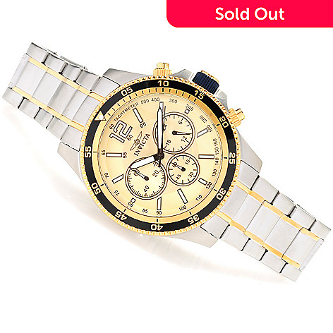 623-478 - Invicta Men's Specialty Quartz Chronograph Bracelet Watch w/ Three-Slot Dive Case