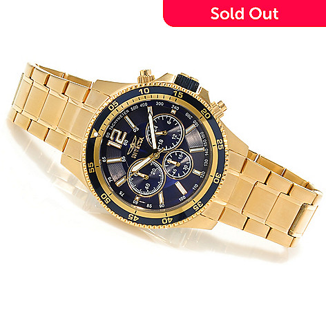 623-479 - Invicta Men's Specialty Quartz Chronograph Bracelet Watch w/ Three-Slot Dive Case