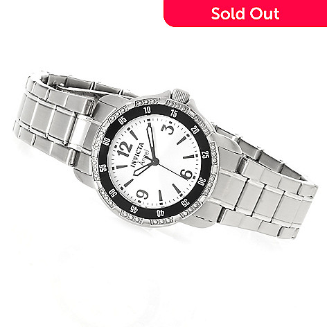 623-483 - Invicta Women's Angel Quartz Stainless Steel Bracelet Watch w/ Travel Box