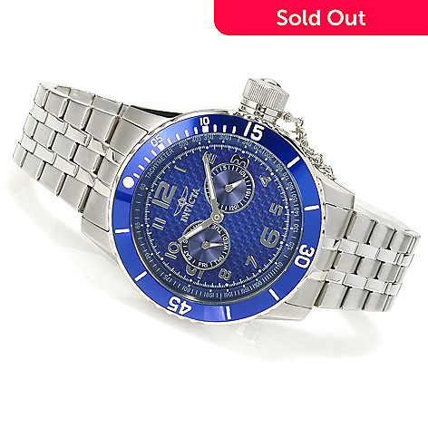 623-516 - Invicta Men's Specialty Quartz Carbon Fiber Dial Stainless Steel Bracelet Watch