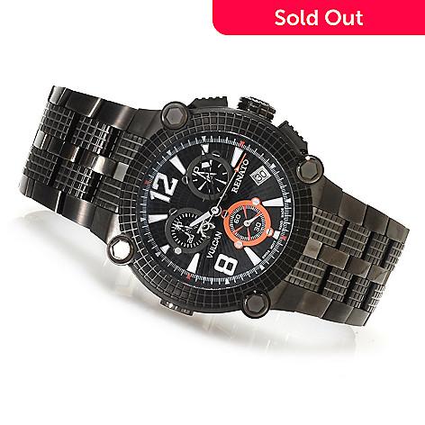 623-541 - Renato 46mm Vulcan Swiss Quartz Chronograph Stainless Steel Bracelet Watch