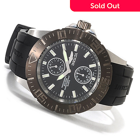 623-552 - Invicta Men's Pro Diver Quartz Stainless Steel Polyurethane Strap Watch w/ Three-Slot Dive Case