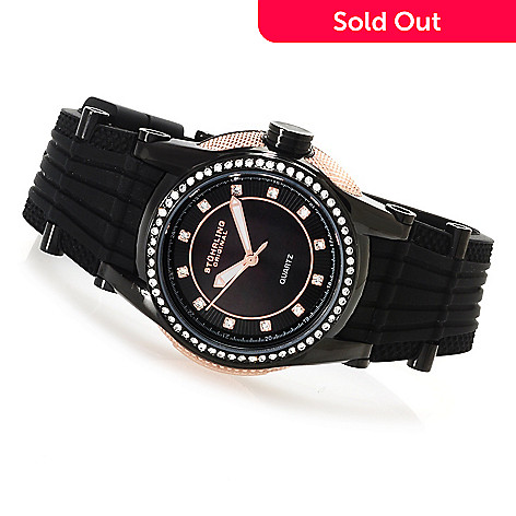 623-559 - Stührling Original Women's Illusion Vogue Quartz Strap Watch Made w/ Swarovski® Elements