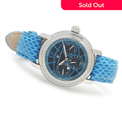 623-587 - Constantin Weisz Women's Multi Function Automatic Leather Strap Watch