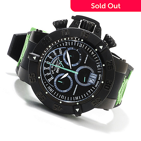 623-625 - Invicta 50mm Subaqua Noma III Swiss Chronograph Silicone Strap Watch w/ Three-Slot Dive Case