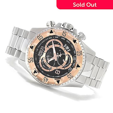 623-627 - Invicta Reserve 52mm Excursion Swiss Chronograph Bracelet Watch w/ Three-Slot Dive Case