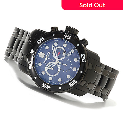 623-631 - Invicta Men's Pro Diver Scuba Quartz Chronograph Mother-of Pearl Bracelet Watch