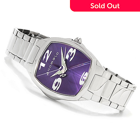 623-651 - Android Mid-Size Prism Quartz Stainless Steel Bracelet Watch