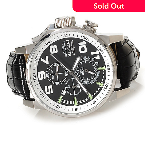 623-663 - Invicta Mid-Size I Force Quartz Chronograph Alligator Strap Watch