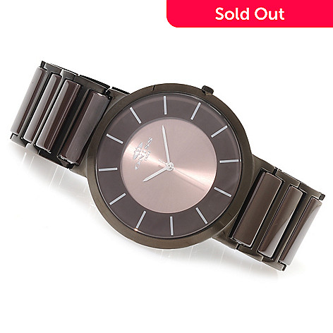623-675 - Oniss Men's Moonar Quartz Stainless Steel & Ceramic Bracelet Watch