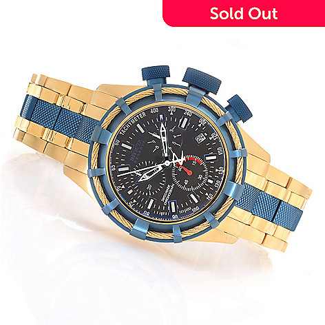 623-678 - Invicta Reserve 50mm Bolt Swiss Quartz Chronograph Bracelet Watch w/ One-Slot Dive Case