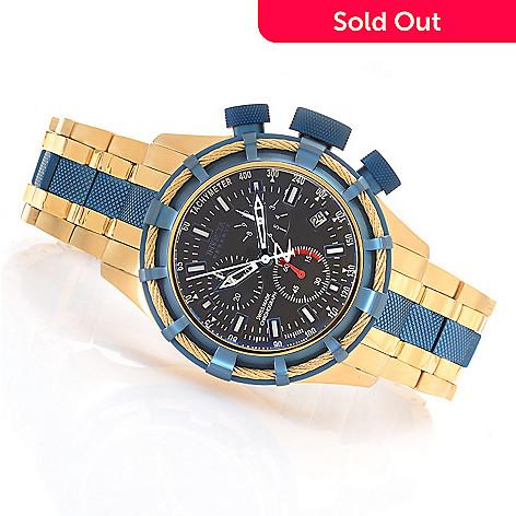 623-678 - Invicta Reserve 50mm Bolt Swiss Quartz Chronograph Bracelet Watch w/ One-Slot Dive Case