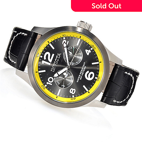 623-704 - Invicta Men's I Force Quartz Stainless Steel Leather Strap Watch