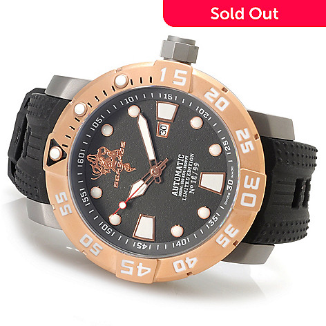 623-730 - Invicta Men's Sea Base Limited Edition Swiss Made Automatic Titanium Polyurethane Strap Watch