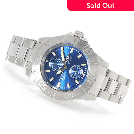 623-763 - Invicta 44mm Pro Diver Ocean Baron Quartz Bracelet Watch w/ Three-Slot Dive Case