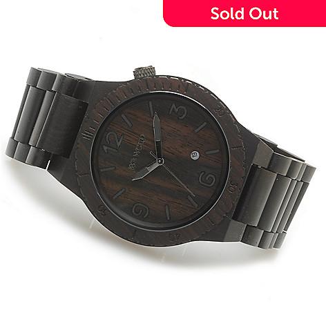 623-779 - WeWOOD 46mm ''Alpha'' Quartz Wooden Bracelet Watch