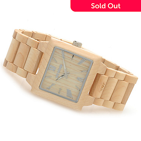 623-780 - WeWOOD Rectangular ''Callisto'' Quartz Wooden Bracelet Watch