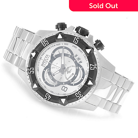 623-796 - Invicta Reserve 52mm Excursion Touring Swiss Made Bracelet Watch w/ Three-Slot Dive Case