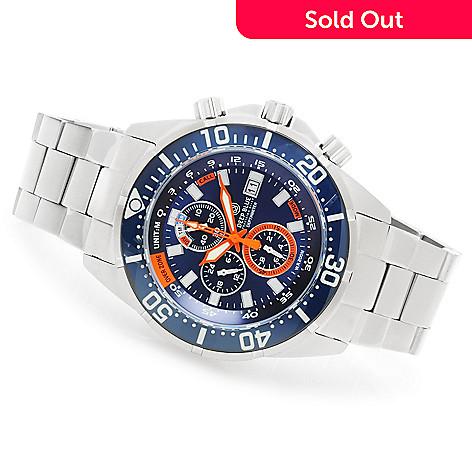 623-926 - Deep Blue 46mm Depth Meter Professional Quartz Chronograph Bracelet Watch