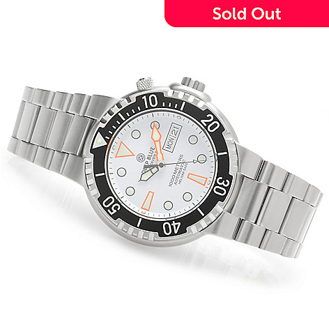 623-973 - Deep Blue Men's Sun Diver II Automatic Stainless Steel Bracelet Watch