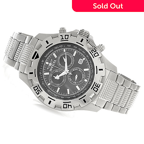 623-977 - Invicta Men's Specialty Quartz Chronograph Bracelet Watch w/ Three-Slot Dive Case